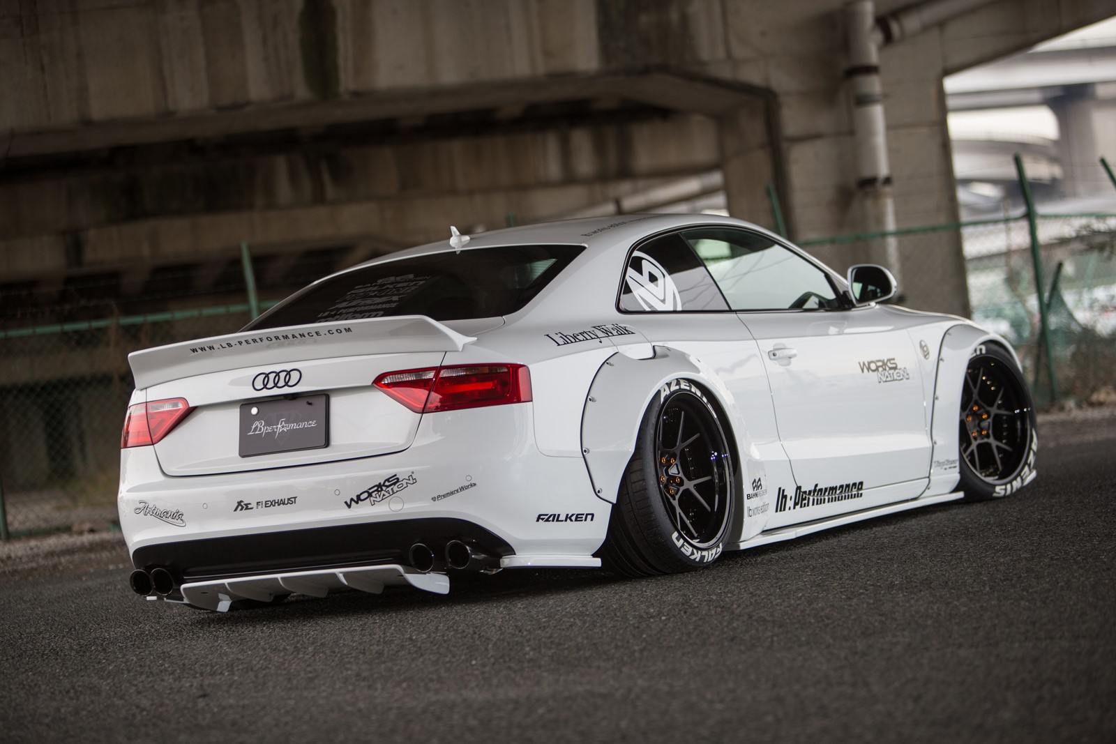 Audi A5 with a Liberty Walk body kit - Vehiclejar Blog