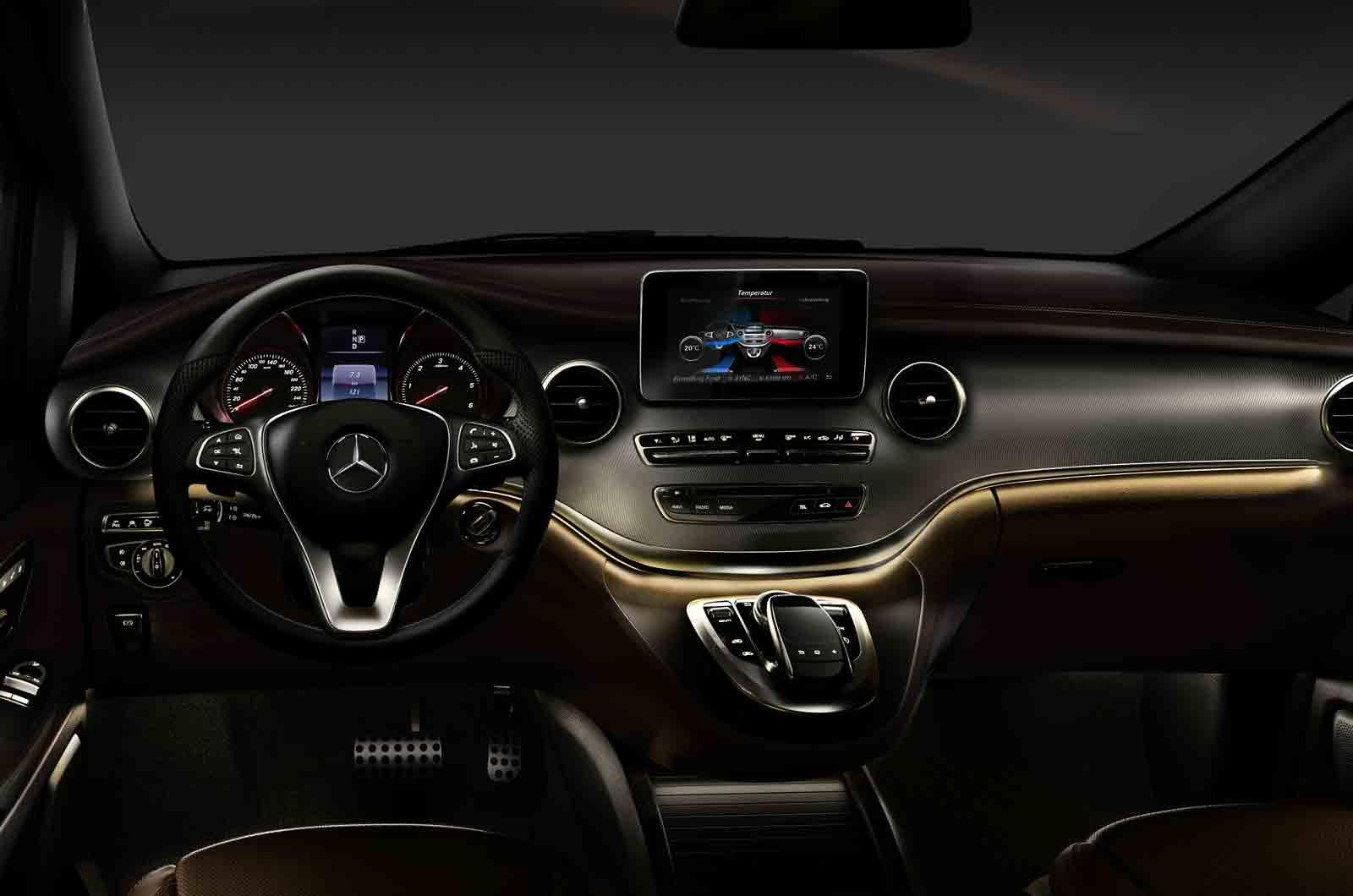 The Interior Of The Mercedes Benz V Class