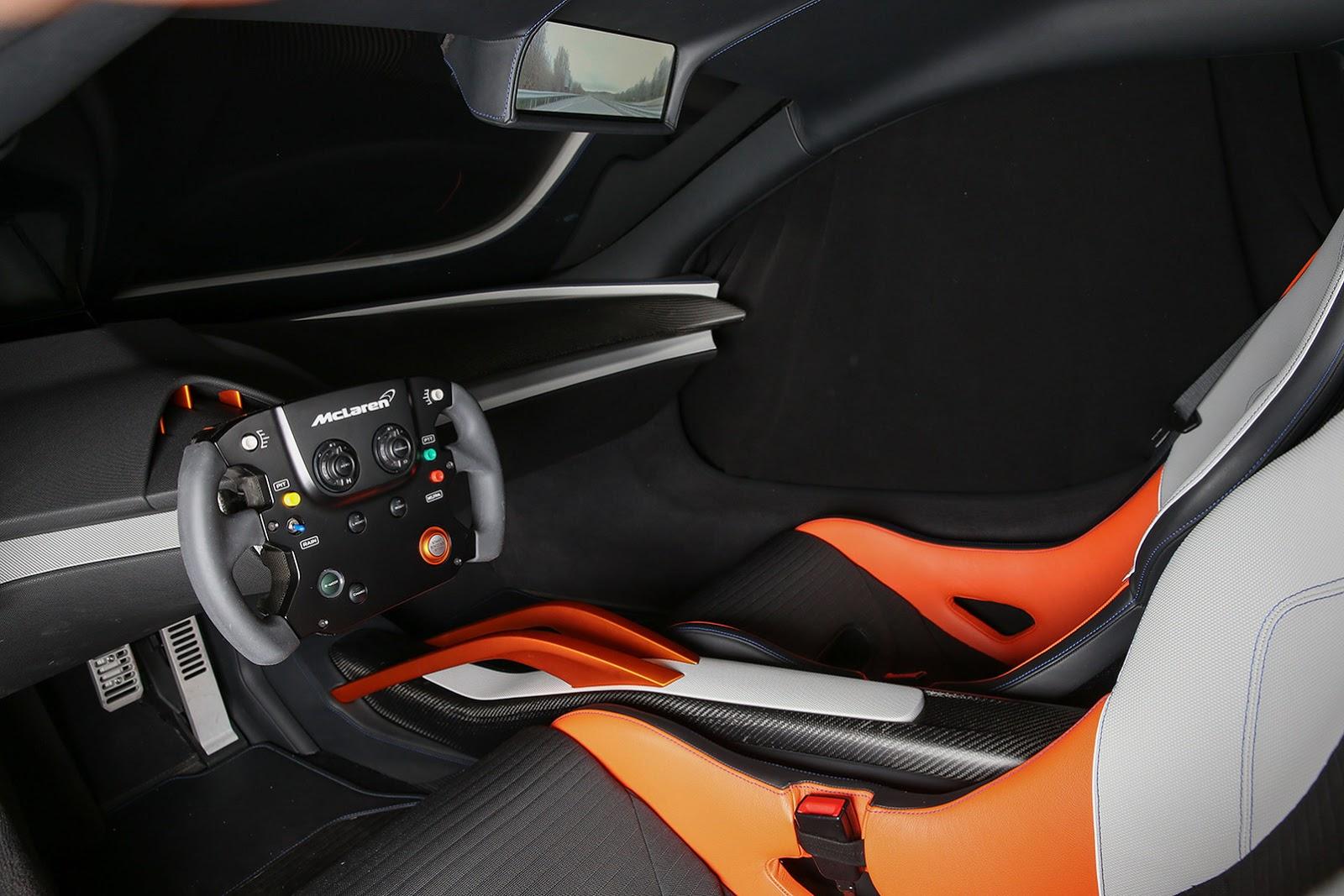 JVCKENWOOD presented a McLaren 675LT with a high-tech interior at CES