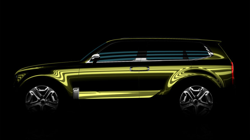 Kia teases an SUV that they will present at Detroit