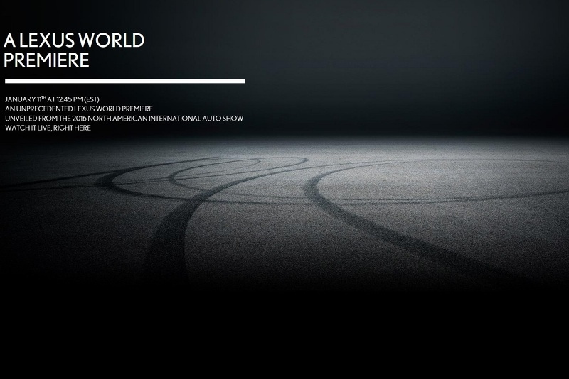 Lexus teases a new car that will be presented at Detroit