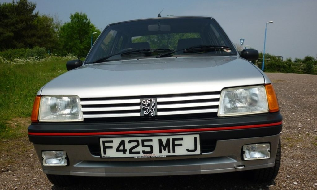 A 1989 Peugeot 205 GTI was sold at a record price