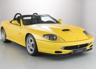 A 2001 FERRARI 550 BARCHETTA with only 1,625 miles is up for sale