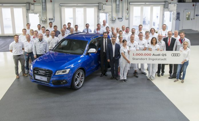 An Audi SQ5 is the millionth Q5 produced