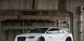 Audi A5 with a Liberty Walk body kit