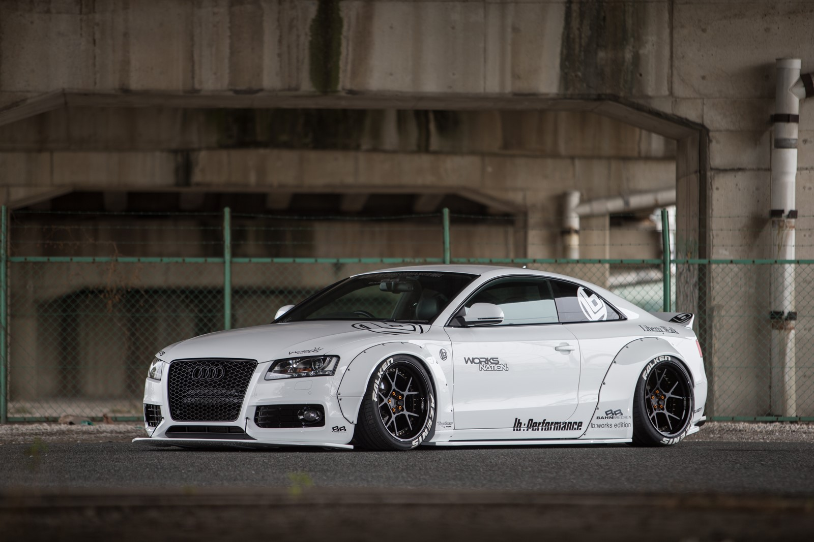 audi a5 with a liberty walk body kit vehiclejar blog. Black Bedroom Furniture Sets. Home Design Ideas