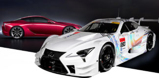 Lexus presented the racing LC 500 for the Super GT championship