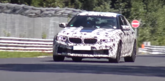 Spy video fo the BMW M5 F90 at Nurburgring