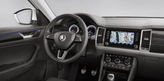 The interior of the Skoda Kodiaq