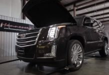 Cadillac Escalade HPE800 on the dyno