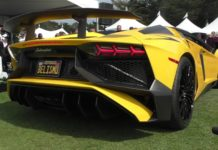 Lamborghini Aventador with Valentino Balboni exhaust