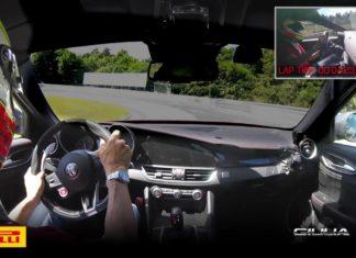 The Alfa Romeo Giulia QV laps the Nurburgring in 732