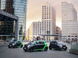 The electric Smart ForTwo and ForFour