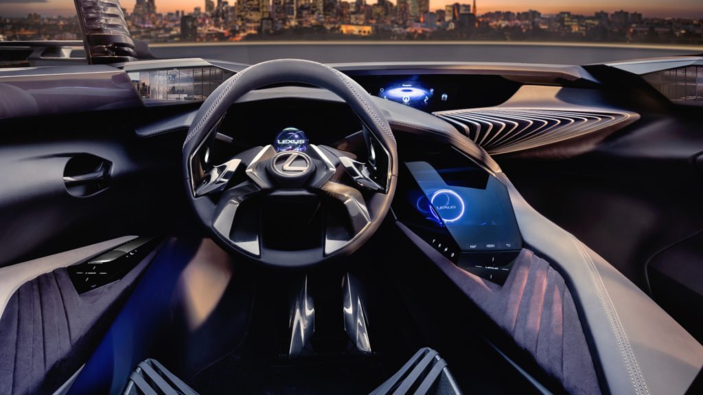 The interior of the Lexus UX Concept