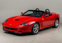 2001 Ferrari 550 Barchetta with only 1875 miles is up for sale