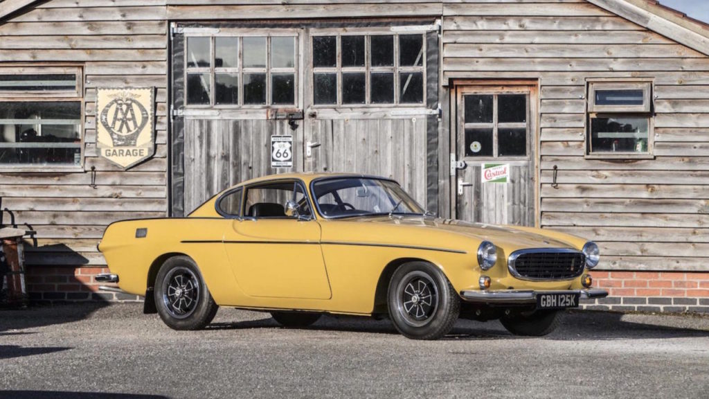 A 1972 Volvo P1800E is heading to auctions