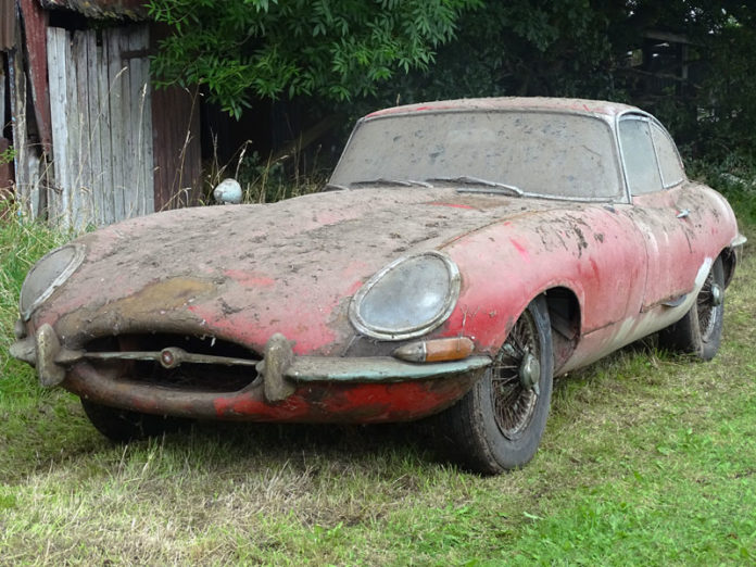 Barn find Jaguar E-Type 3.8 Coupe heads to auction