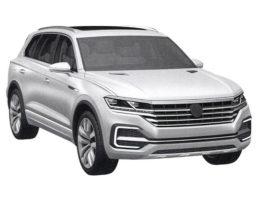Leaked pictures of the new Volkswagen Touareg