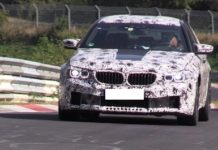 Spy video of the new BMW M5 at Nurburgring