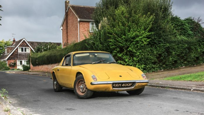 The Lotus Elan Plus 2 of Graham Hill is up for auction