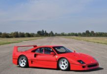 1992 Ferrari F40 heads to auction, with no reserve