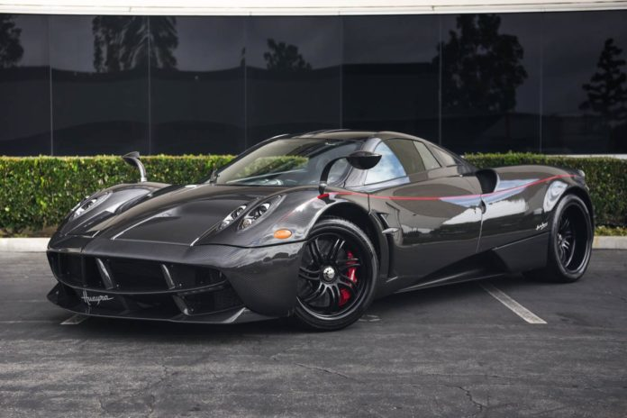 A carbon fiber Pagani Huayra is up for sale