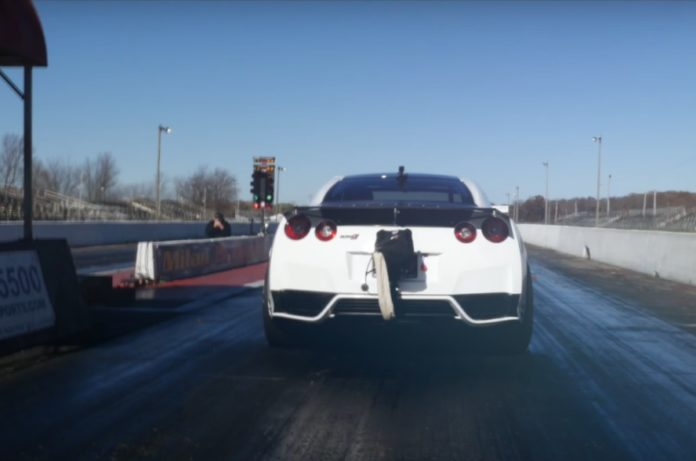 AMS has managed to do the quarter-mile in 7.14 seconds with their Nissan GT-R