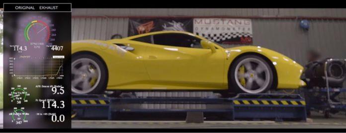 Ferrari 488 GTB with an iPE exhaust