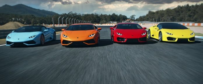 Lamborghini has prepared a video for the model range of the Huracan