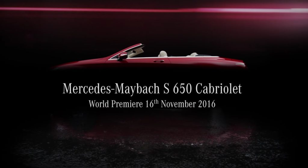 Mercedes-Maybach S650 Cabriolet heading to Los Angeles auto show