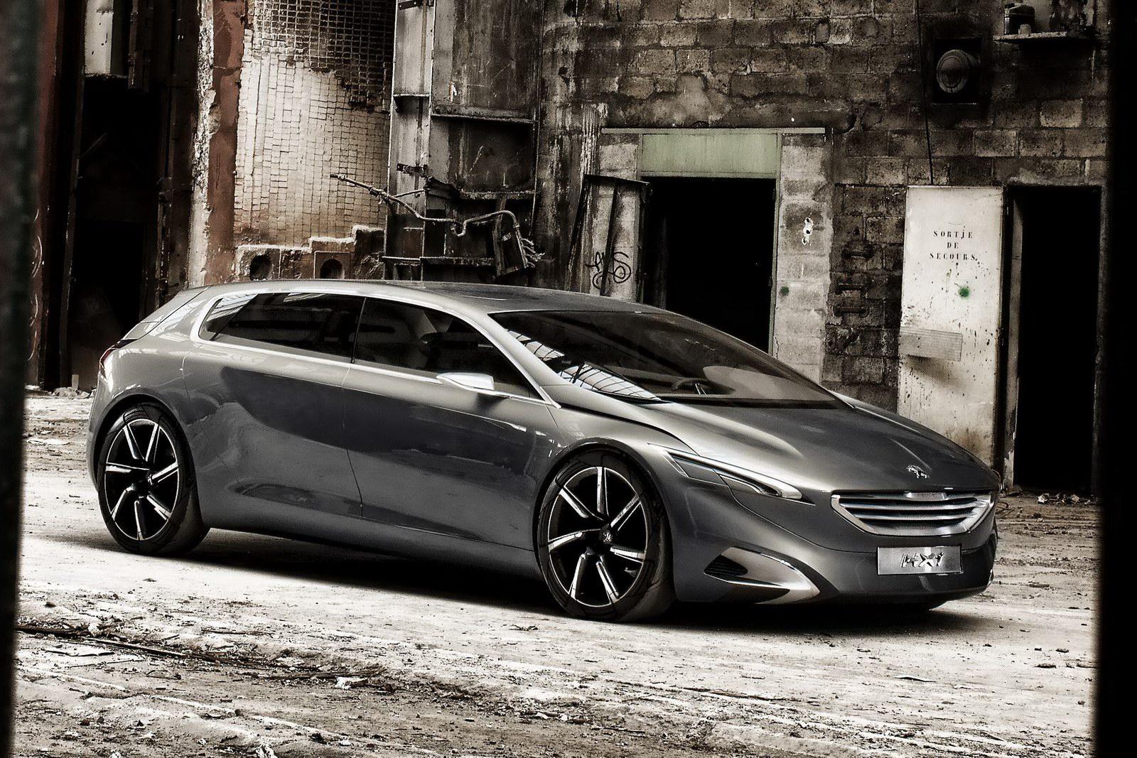 old concept cars peugeot hx1 hybrid4 mpv. Black Bedroom Furniture Sets. Home Design Ideas