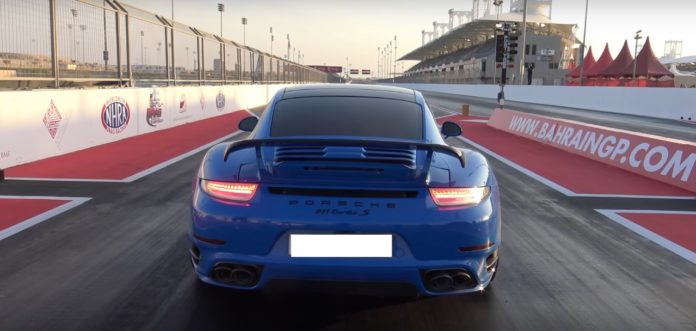 Porsche 911 Turbo S manages to do the quarter-mile in 9.1 seconds
