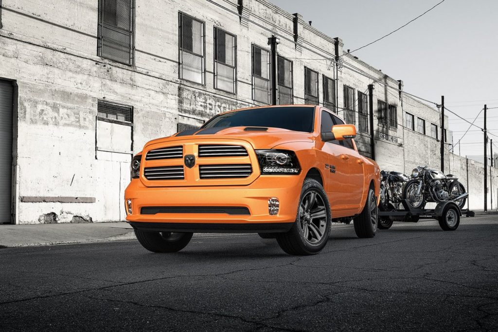 Ram 1500 Rebel Mojave Sand and 1500 Ignition Orange Sport