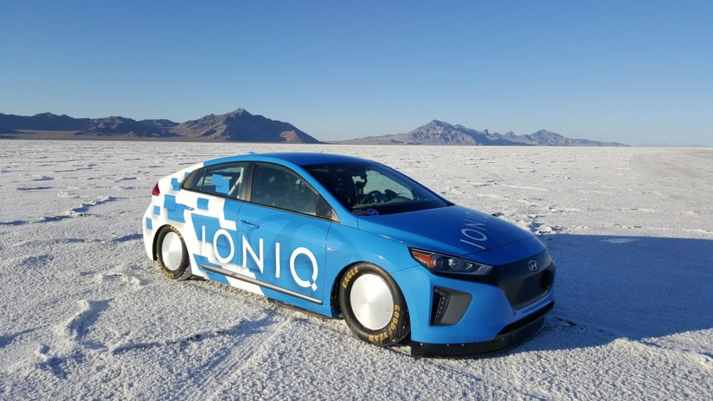 The Hyundai Ioniq Hybrid has broken a record at Bonneville Salt Flats
