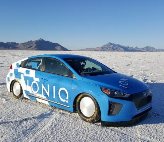 The Hyundai Ioniq Hybrid has broken a record at Bonneville Salt Flats
