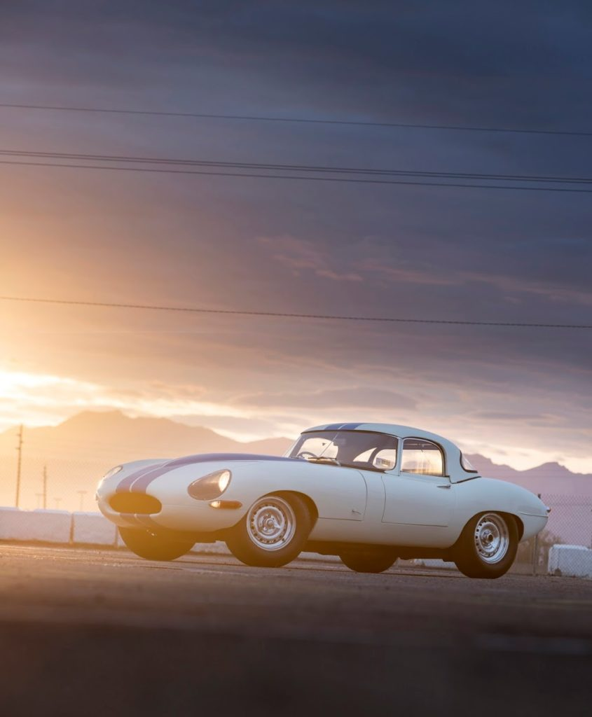 A Lightweight Jaguar E-Type is heading to auction