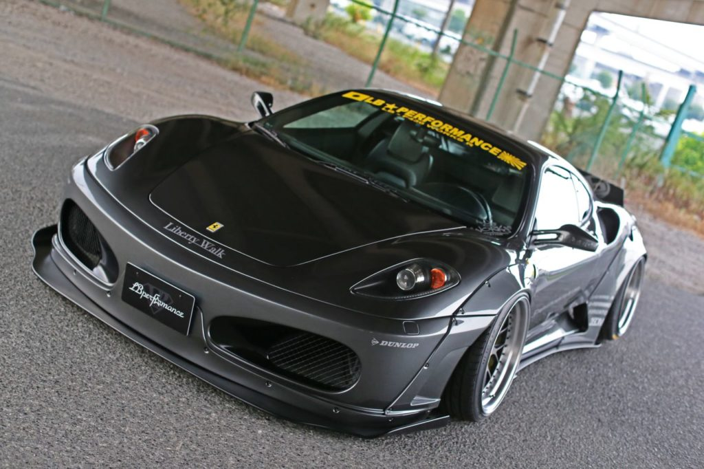 Liberty Walk has prepared a new body kit for the Ferrari F430