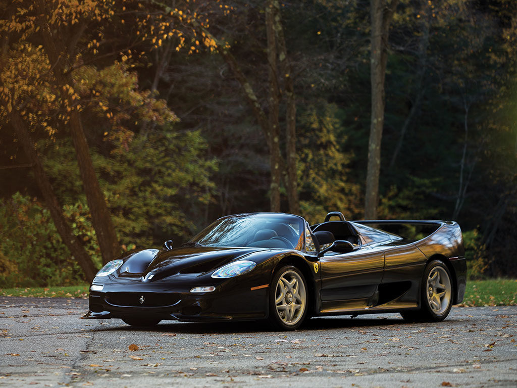 One of the four black Ferrari F50 is heading to auction