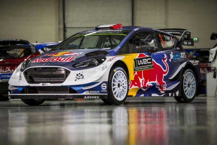 The livery of this year's Ford Fiesta WRC