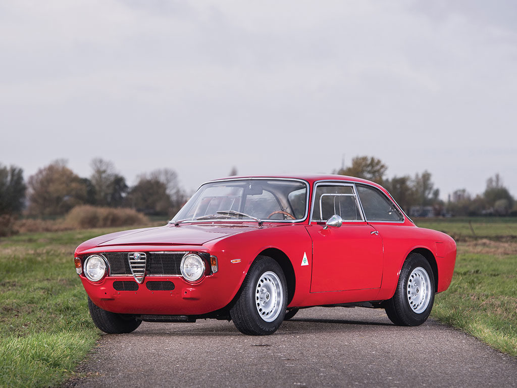 A 1965 Alfa Romeo Giulia Sprint GTA is heading to auction