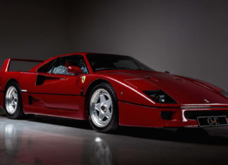 A Ferrari F40 owned by Eric Clapton is up for sale