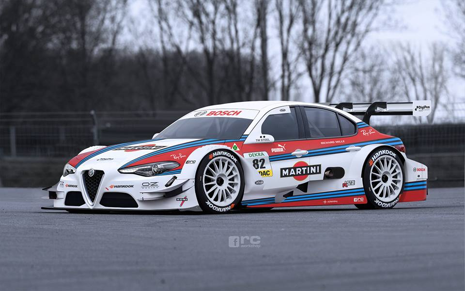 Alfa Romeo Giulia DTM rendering