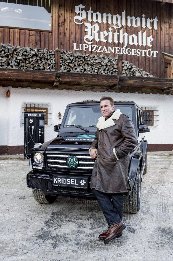 An electric Mercedes G-Class by Kreisel Electric for Arnold Schwarzenegger