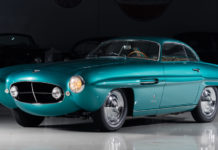 An extremely rare 1953 Fiat 8V Supersonic by Ghia is heading to auction