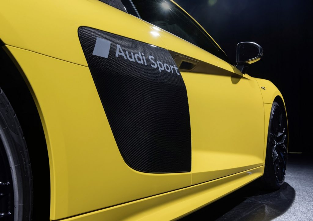 Audi has developed a special technique for etching symbols on a car's paint
