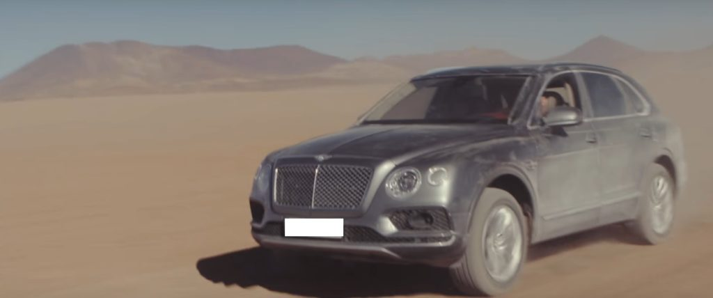 Bentley shows the off-road capabilities if the Bentayga in a promo video
