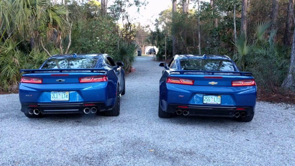 Chevrolet Camaro ZL1 vs Camaro SS in a rev battle