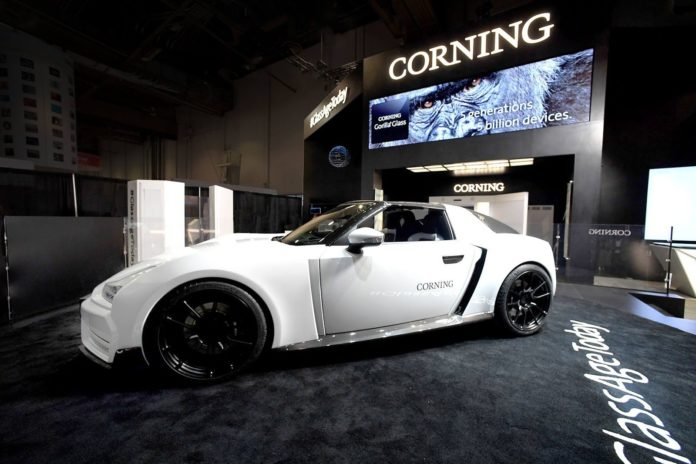 Corning presented a car, that features Gorilla Glass at CES