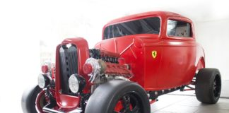 Custom 1932 Ford with a Twin Turbo Ferrari V8 engine