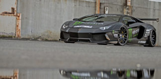 Liberty Walk presented three modified Lamborghini Aventadors